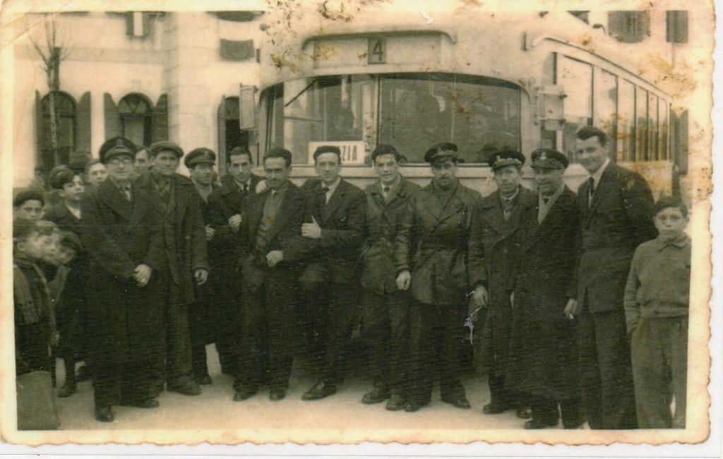 MESTRE IERI il primo filobus in piazza Pastrello da Favaro a Ve,