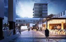 La nuova piazza Candiani verso Galleria Barcella