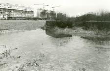 metà anni '70, ci sono ancora i bunker di fronte ai costruendi palazzoni di via Virgilio (da gruppo Facebook Carpenedo)