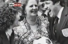 Keegan, la Thatcher e Hughes. Foto di Sky News