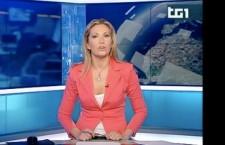L'esordio di Marina Nalesso alla conduzione del TG1, Foto da trasmissione RAI