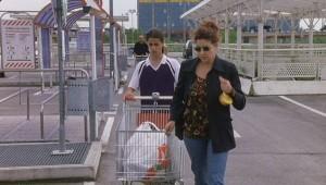 """Dal film """"Pane e tulipani"""", piazzale Auchan, sullo sfondo il Top Business Centre"""