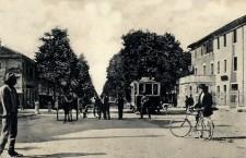 Viale Garibaldi inizio da Mestre (cartolina)