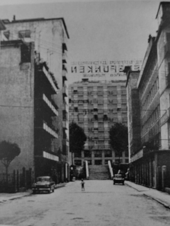 La pubblicità Telefunken su un Palazzo di Corso del Popolo (rivista del 1970)