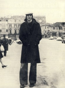 Renato Villalta in Piazza Ferretto (ph. Giganti del Basket, 1974)