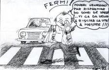 """Le vignette mestrine di Gigio """"Ongia"""", dalla matita di Egi Rossini"""