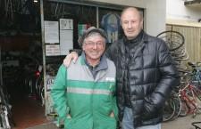 Dino Panzanato con il suo grande amico Silvano Pavan, presidente S.C. Favaro Veneto (Ph. Marco Parente)