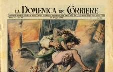 1955: l'incendio dell'autorimessa Brusutti dalla matita di Walter Molino