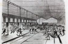 Disordini alla stazione di Mestre, 1876 (disegno di Cenni/Amici, stampa Treves)