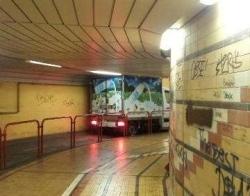 Il sottopasso FS di Mestre (Foto Nuova Venezia)