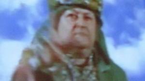L'immagine del divino Otelma proiettata sullo schermo